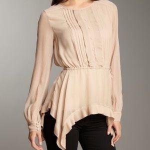 Bcbg mazaxaria leola silk blouse